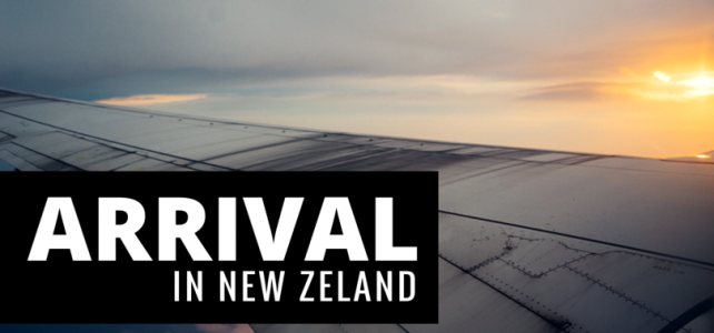 Arrival in New Zealand