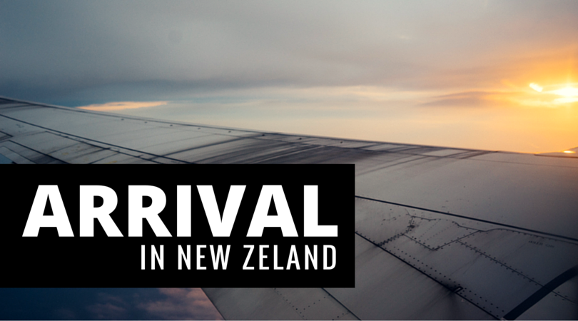 Arrival in New Zeland
