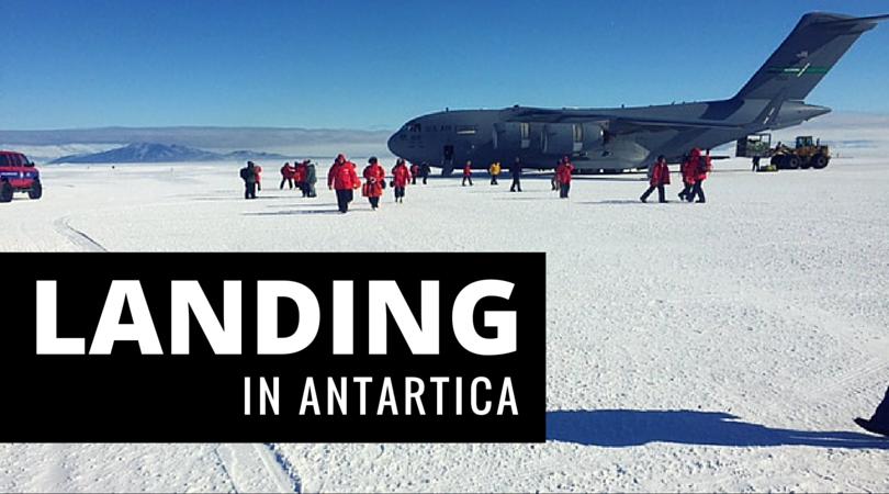 Landing in Antarctica