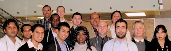 New Gamma Nu Eta Beta Chapter members, Fall 2011