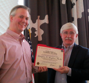 Dr. Gregory N. Hughes of RPI is inducted into Gamma Nu Eta by Bill Wesselman, IIT Beta Chapter president