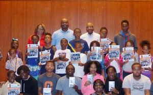 The young participants in the Back to School Readers Workshop got a chance to select a free book written by the Authors Sharon Draper, Earl Sewell and Bernard Turner.