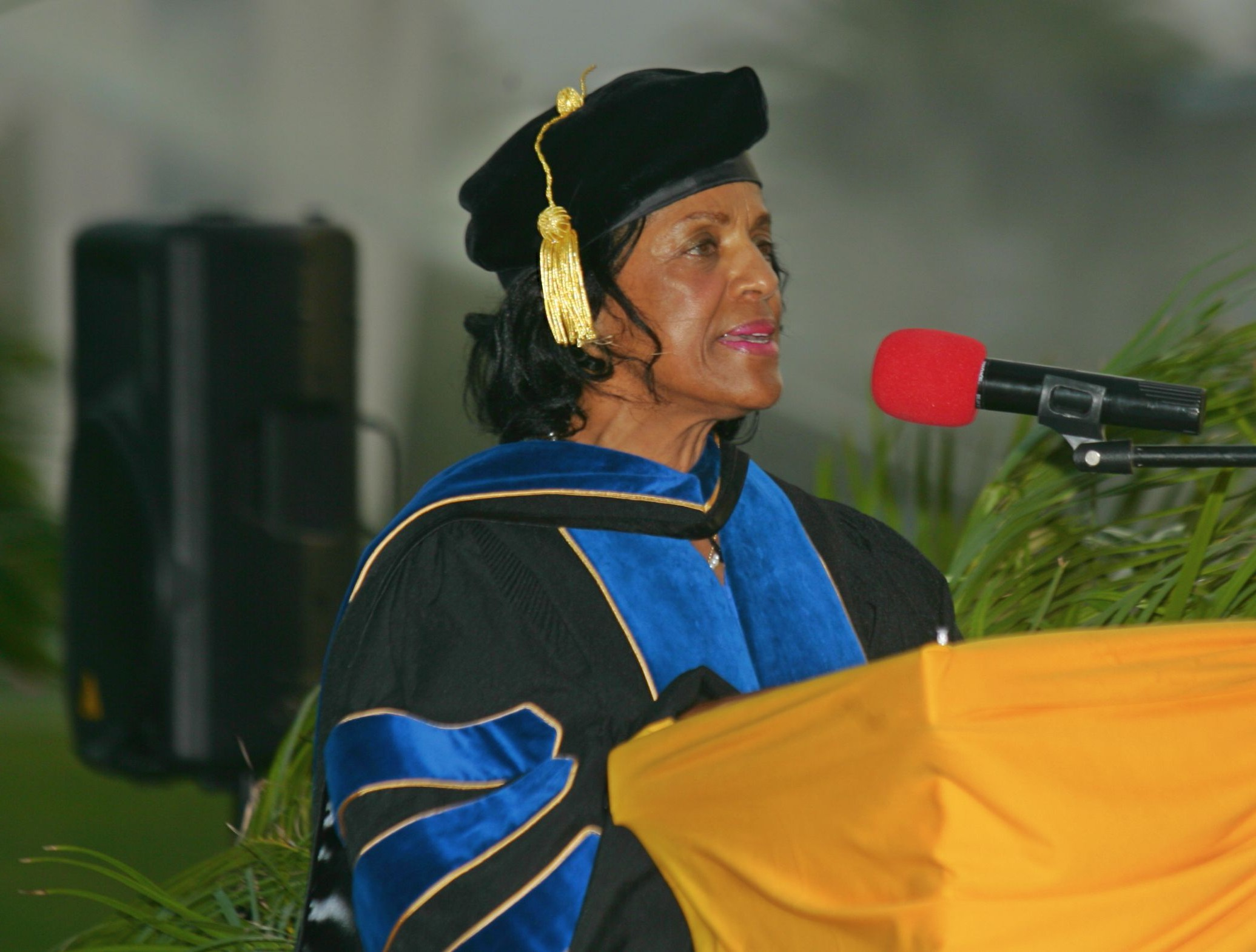 Dr. Patton Gives Antigua State College Commencement Address