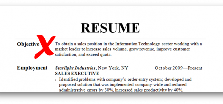The Resume Objective Must Die